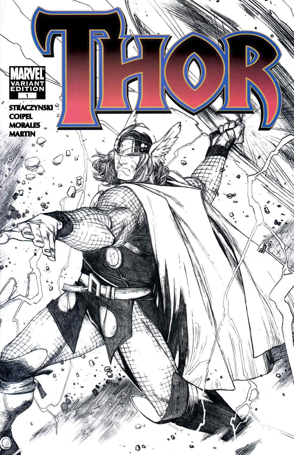 Thor #1 Copiel Sketch Variant Cover Fine (6.0) [Marvel Comic] THUMBNAIL