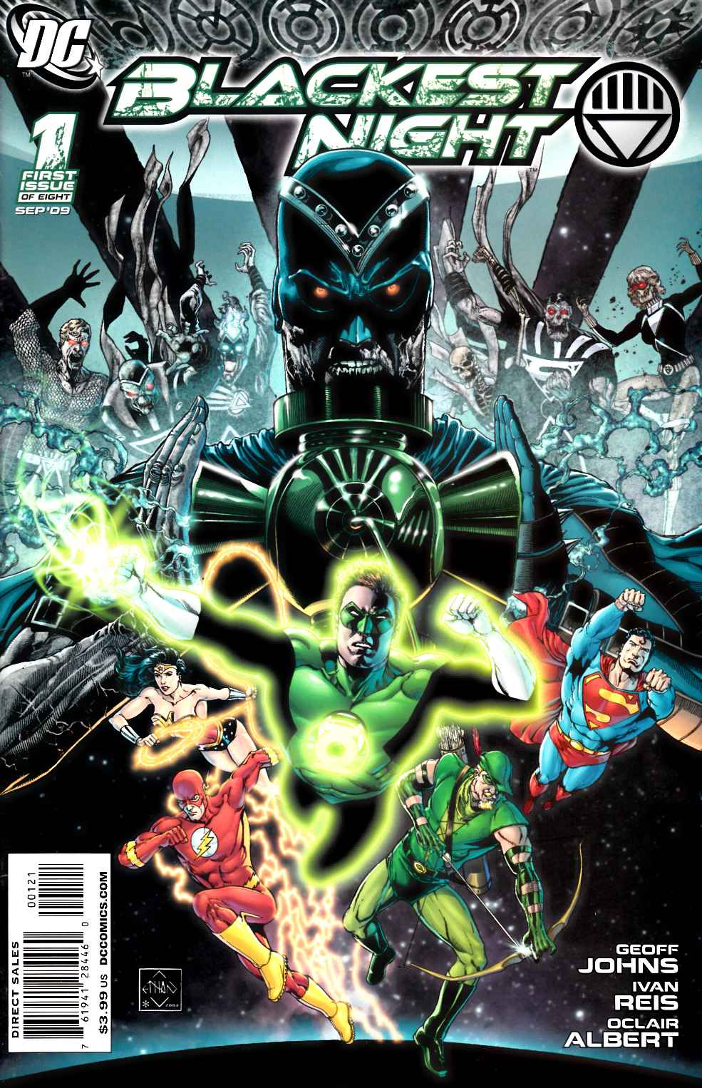 Blackest Night #1 Van Sciver Variant Cover Very Fine (8.0) [DC Comic] LARGE
