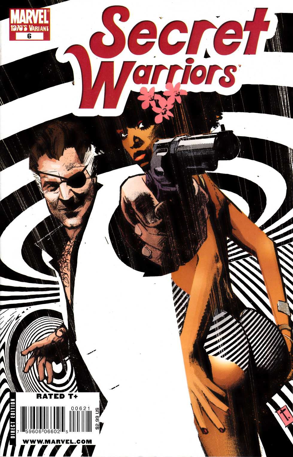 Secret Warriors #6 Decade Variant Cover Near Mint Minus (9.2) [Marvel Comic] THUMBNAIL