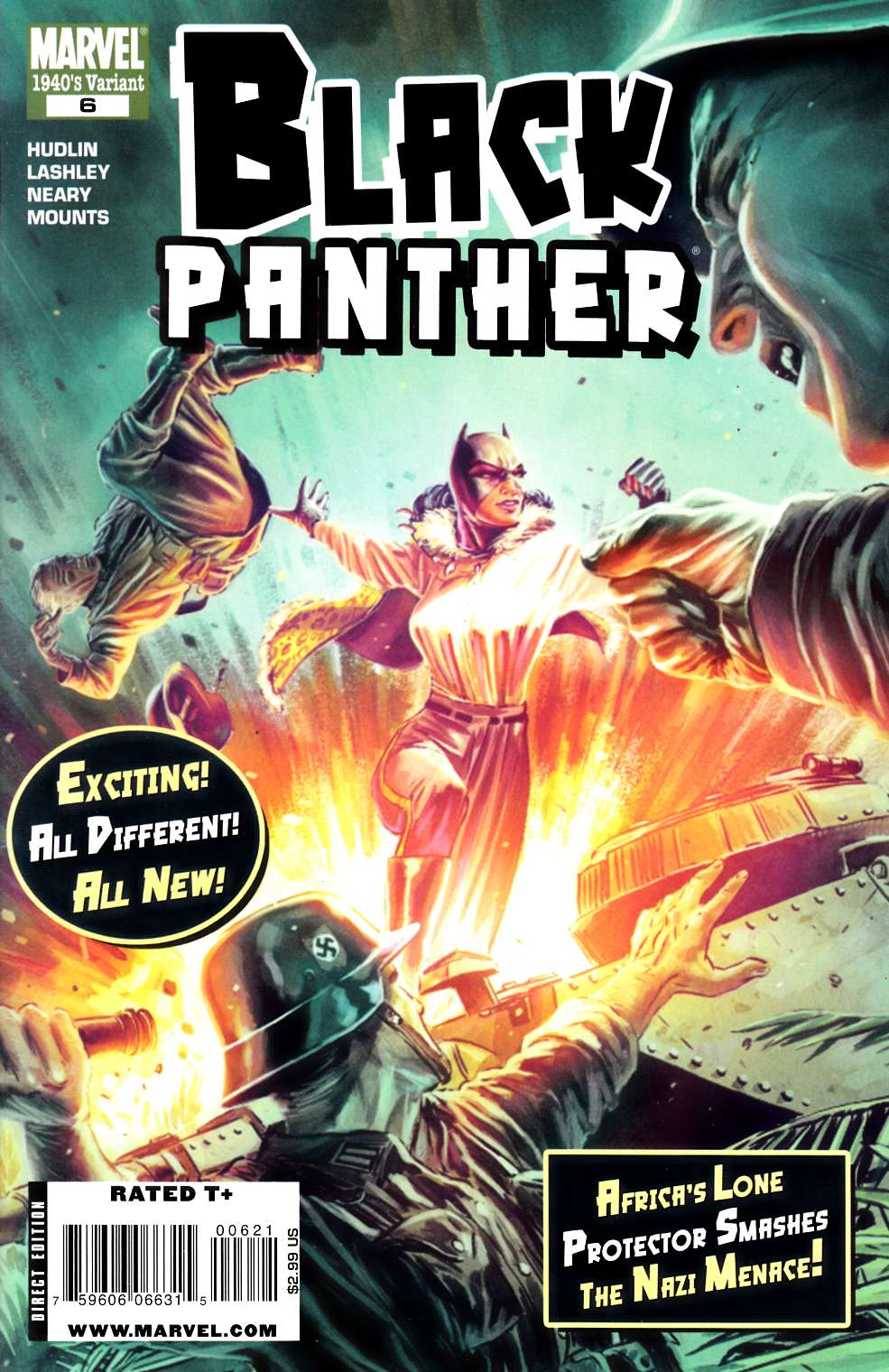 Black Panther #6 Breitweiser 1940s Variant Cover Very Fine Plus (8.5) [Marvel Comic]_THUMBNAIL