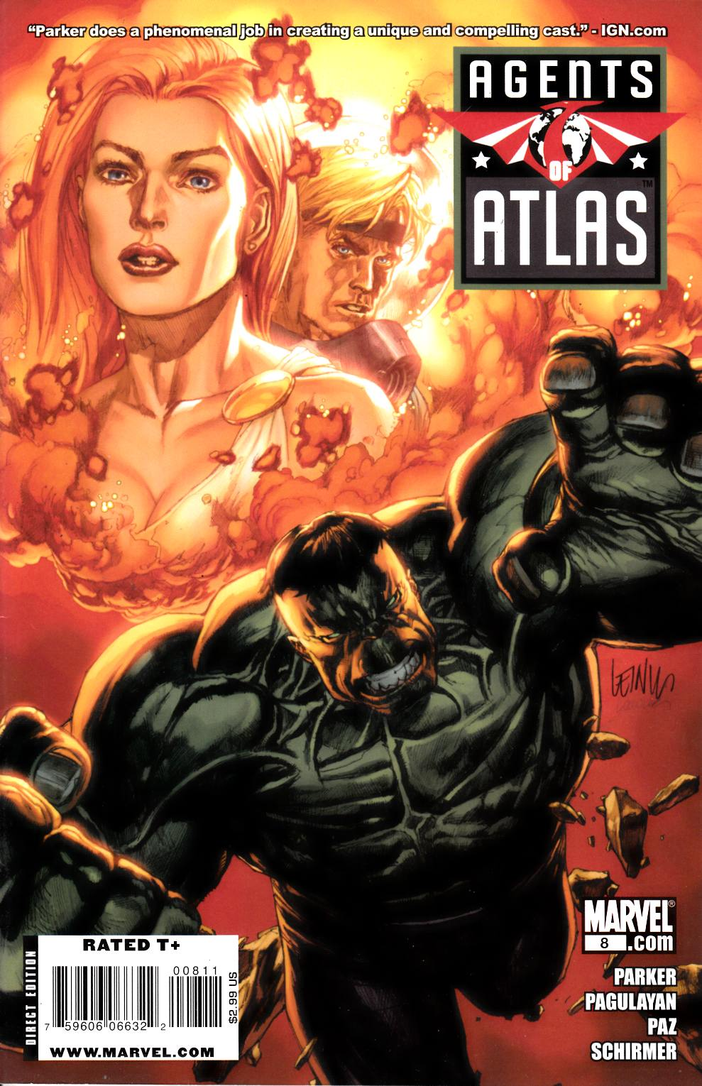 Agents of Atlas #8 Near Mint Minus (9.2) [Marvel Comic] THUMBNAIL