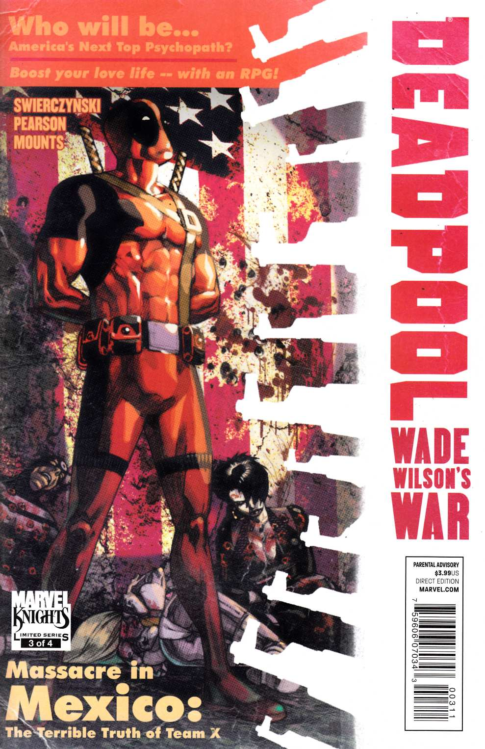 Deadpool Wade Wilsons War #3 Near Mint Minus (9.2) [Marvel Comic] THUMBNAIL