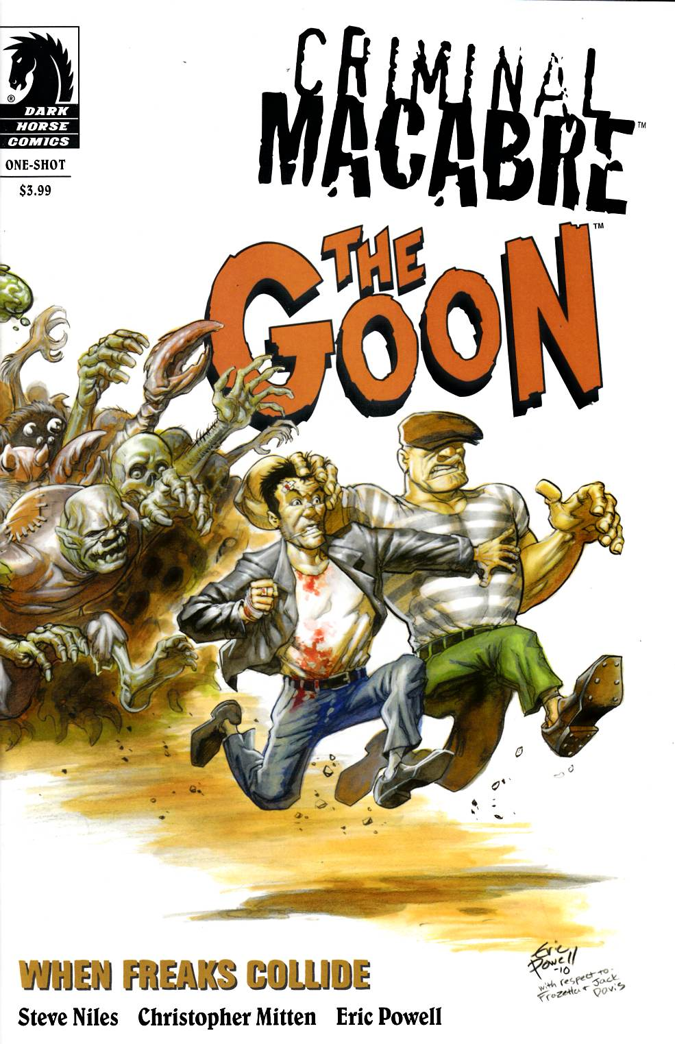 Criminal Macabre Goon When Freaks Collide (One Shot) Powell Variant Cover [Dark Horse Comic] THUMBNAIL