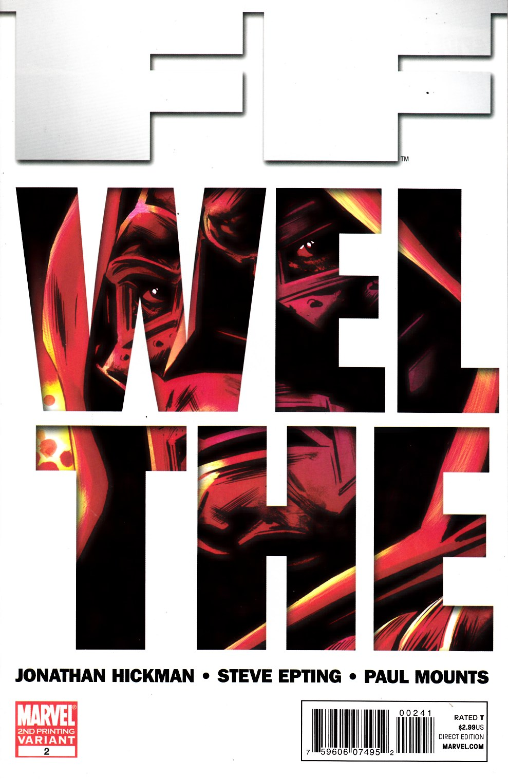 FF #2 Second Printing Fine (6.0) [Marvel Comic] THUMBNAIL