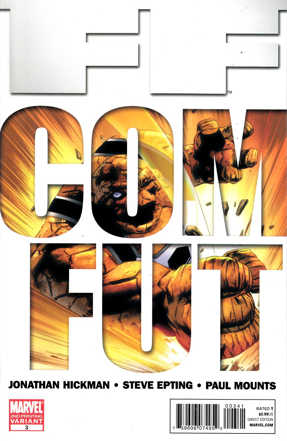FF #3 Second Printing Fine (6.0) [Marvel Comic] THUMBNAIL
