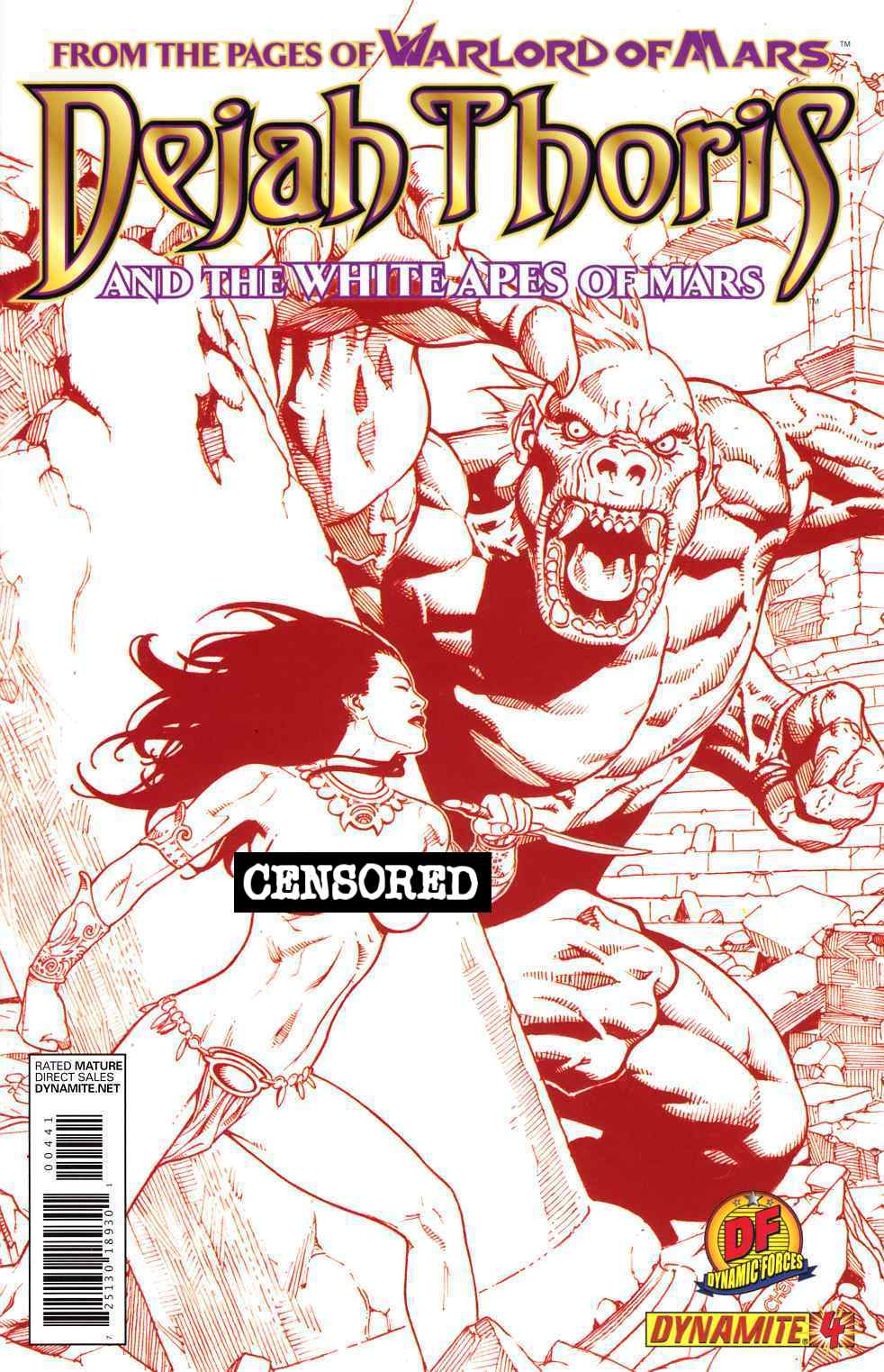 Dejah Thoris & White Apes of Mars #4 DF Chen Risque Red Cover Near Mint Minus (9.2) [Dynamite Comic] THUMBNAIL
