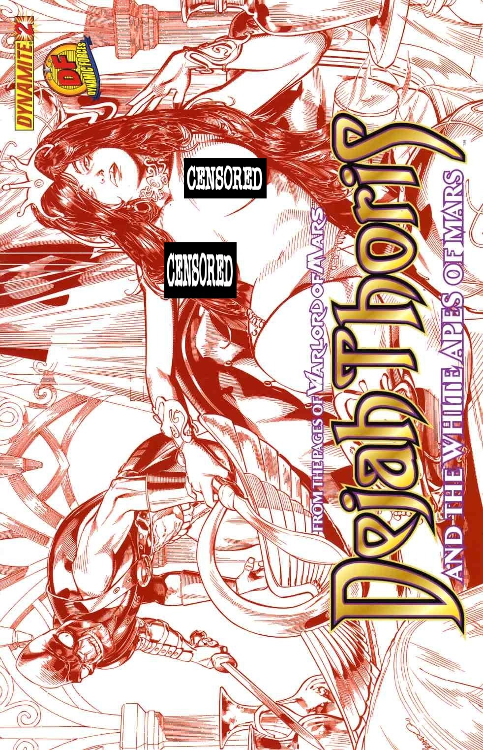 Dejah Thoris & White Apes Of Mars #2 DF Peterson Red Risque Cover Near Mint (9.4) [Dynamite Comic] THUMBNAIL