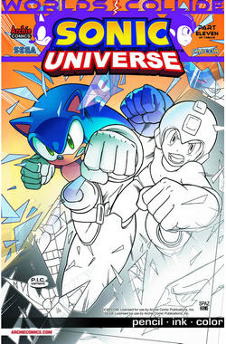 Sonic Universe #54 Pencil Ink Color Cover [Comic] LARGE