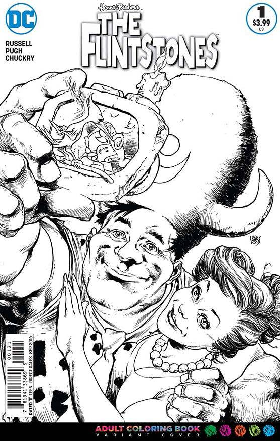 Flintstones #1 Coloring Book Variant Cover [DC Comic] LARGE
