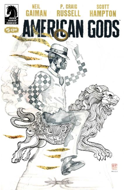 Neil Gaiman American Gods Shadows #5 Mack Variant Cover [Dark Horse Comic] THUMBNAIL