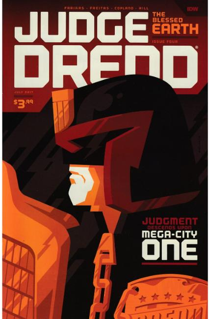 Judge Dredd Blessed Earth #4 Cover B [IDW Comic]