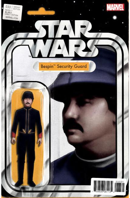 Star Wars #33 Christopher Action Figure Variant Cover [Marvel Comic]