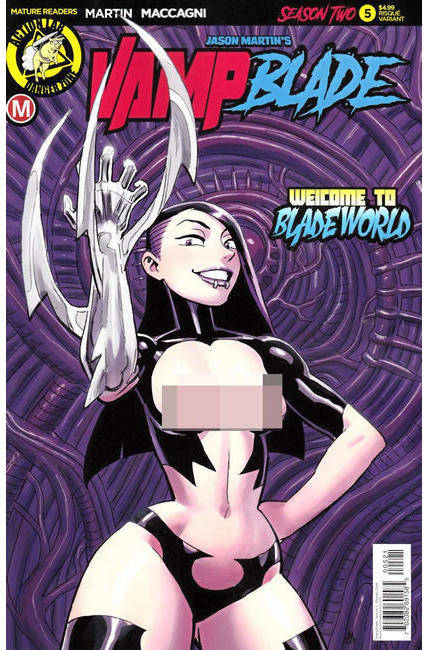 Vampblade Season Two #5 Cover B- Young Risque [Danger Zone Comic]