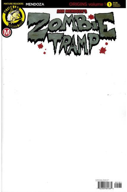 Zombie Tramp Origins #1 Cover H- Blank [Danger Zone Comic]