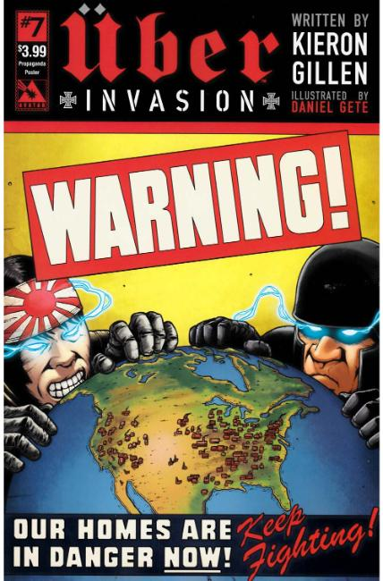 Uber Invasion #7 Propaganda Poster Cover [Avatar Press Comic]