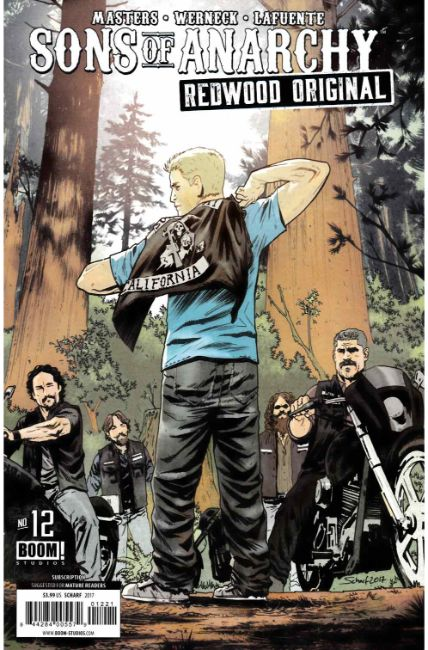 Sons of Anarchy Redwood Original #12 Subscription Cover [Boom Comic] LARGE