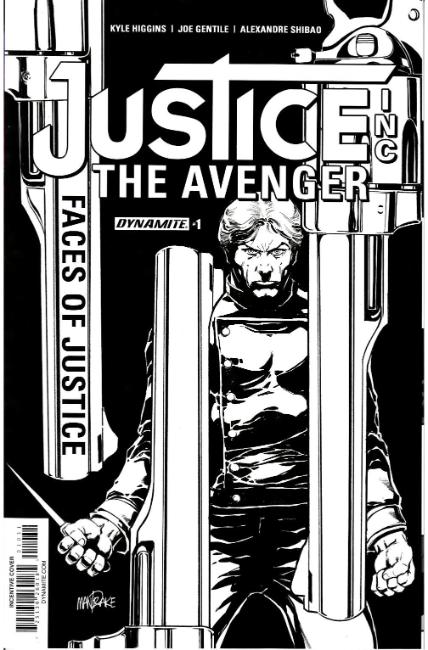 Justice Inc Faces of Justice #1 Cover C- Mandrake B&W Incentive [Dynamite Comic] THUMBNAIL