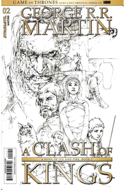 Game of Thrones Clash of Kings #2 Cover D- Rubi B&W Variant [Dynamite Comic] THUMBNAIL