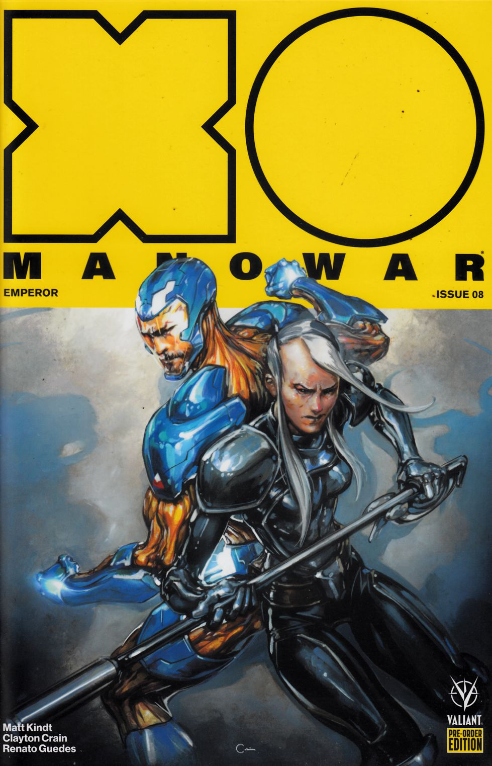 X-O Manowar #8 Preorder Edition Near Mint (9.4) [Valiant Comic] THUMBNAIL