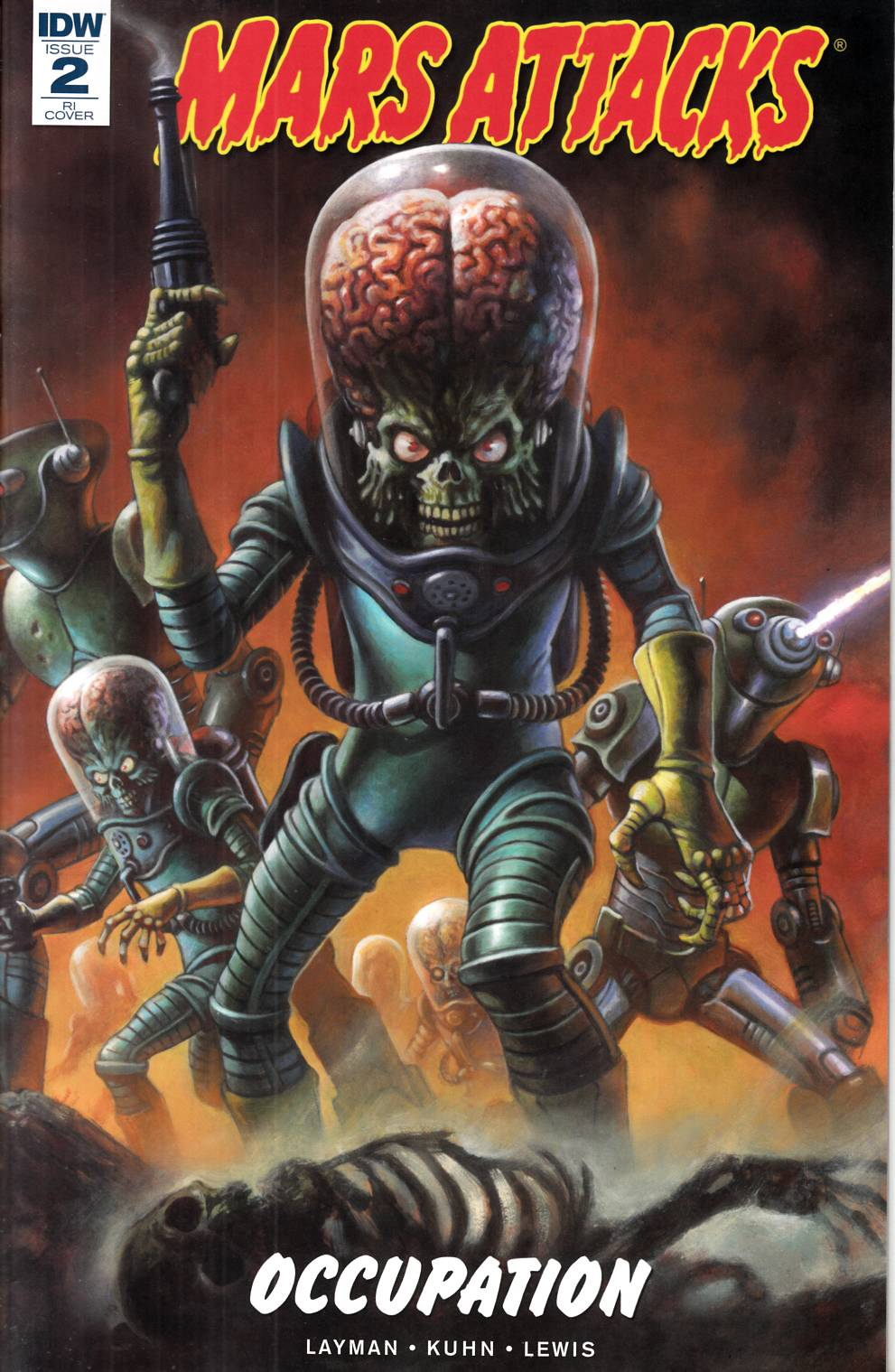 Mars Attacks Occupation #2 Horley Variant Cover [IDW Comic] THUMBNAIL
