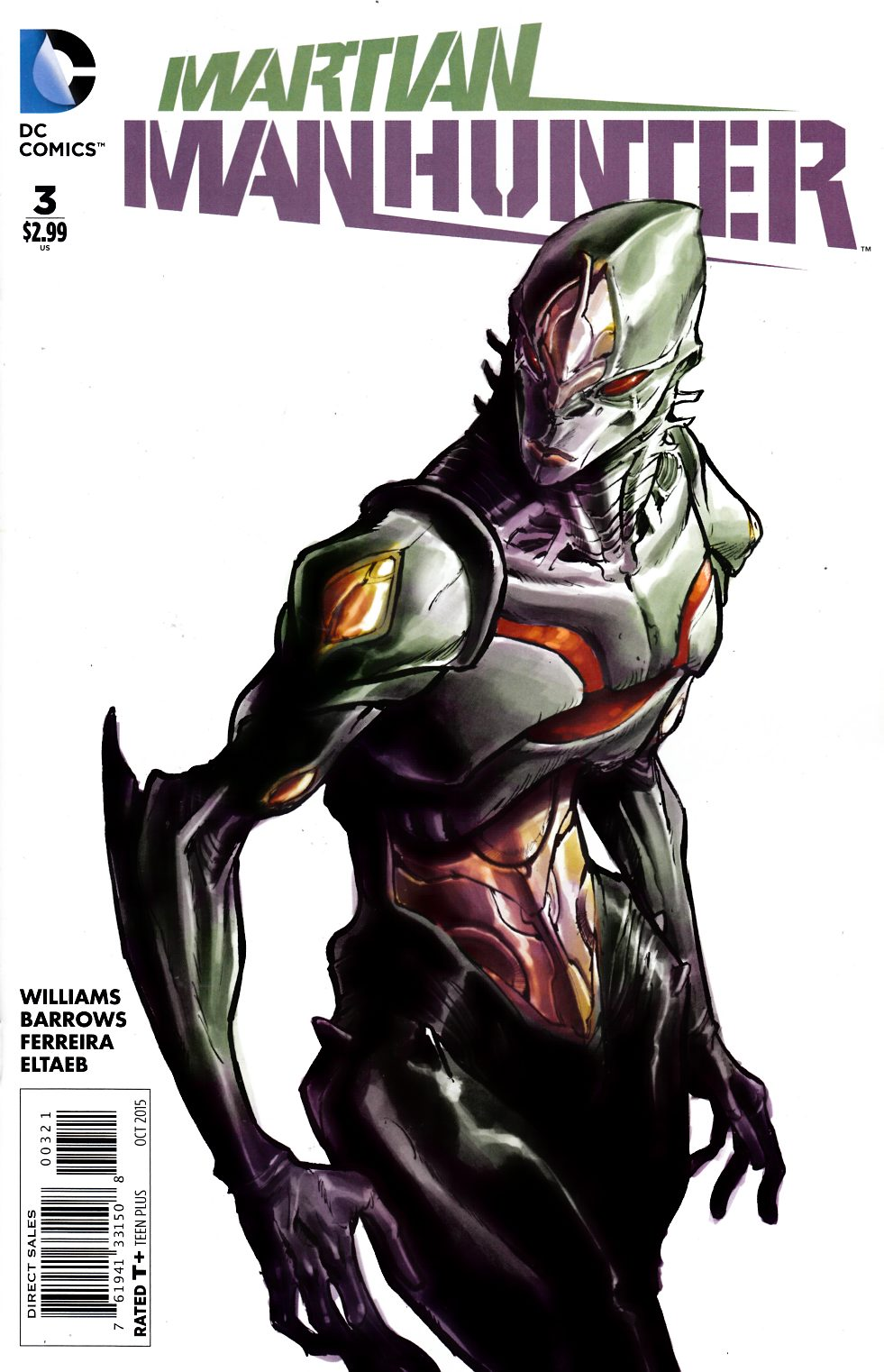 Martian Manhunter #3 Canete Variant Cover [DC Comic] THUMBNAIL