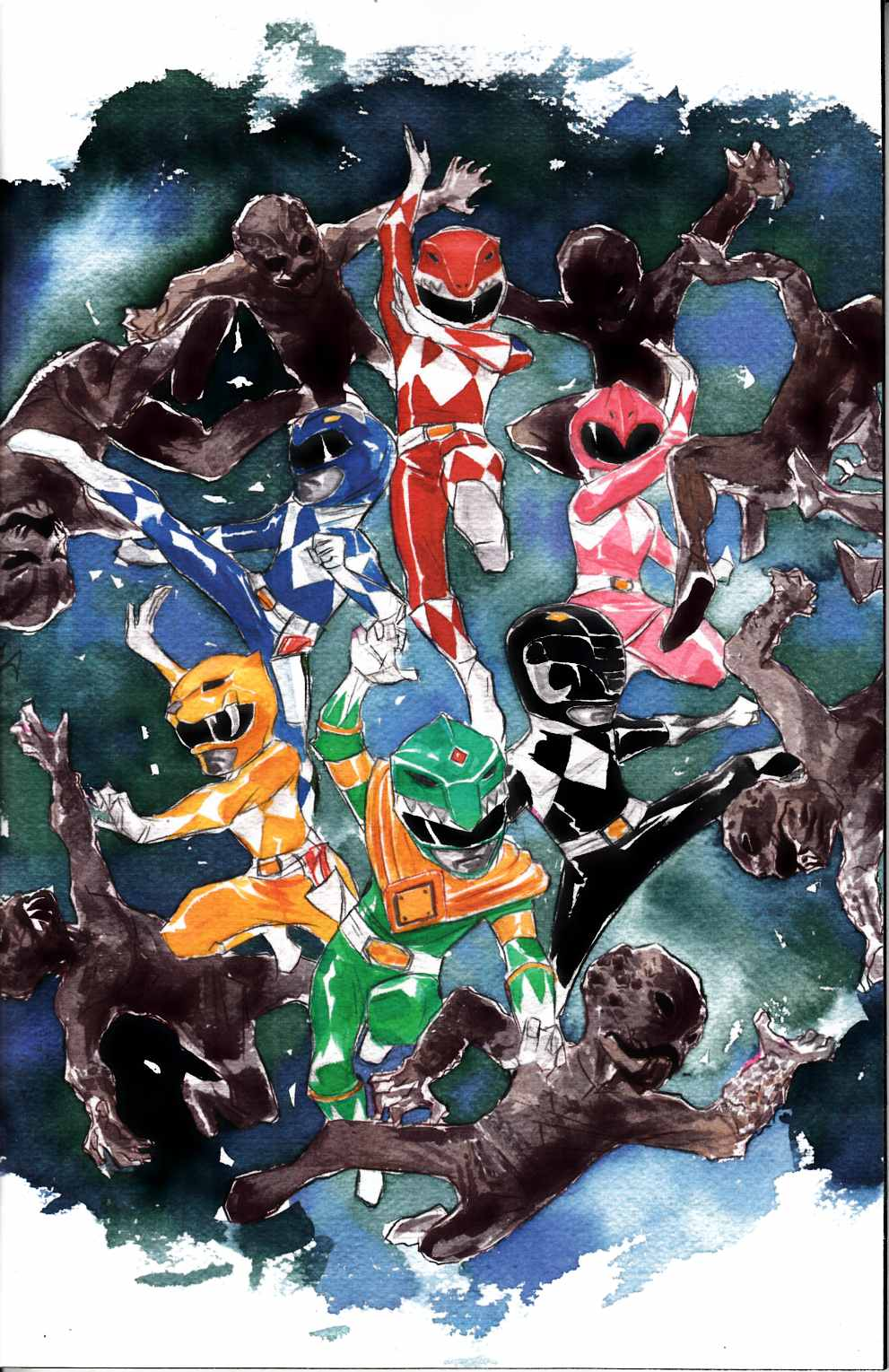 Mighty Morphin Power Rangers #1 Nguyen Incentive Cover [Boom Comic]