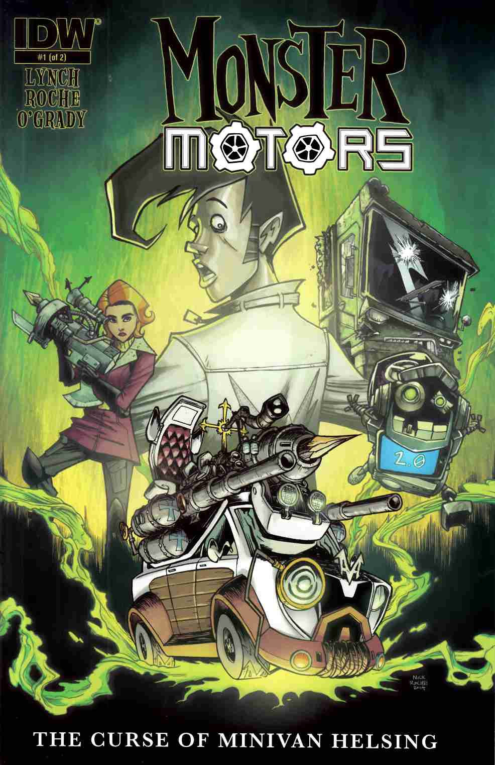 Monster Motors Curse Of Minivan Helsing #1 [IDW Comic] LARGE