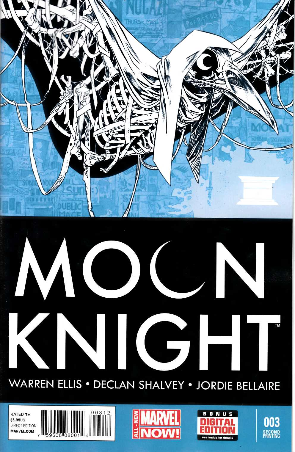 Moon Knight #3 Second Printing [Comic] LARGE