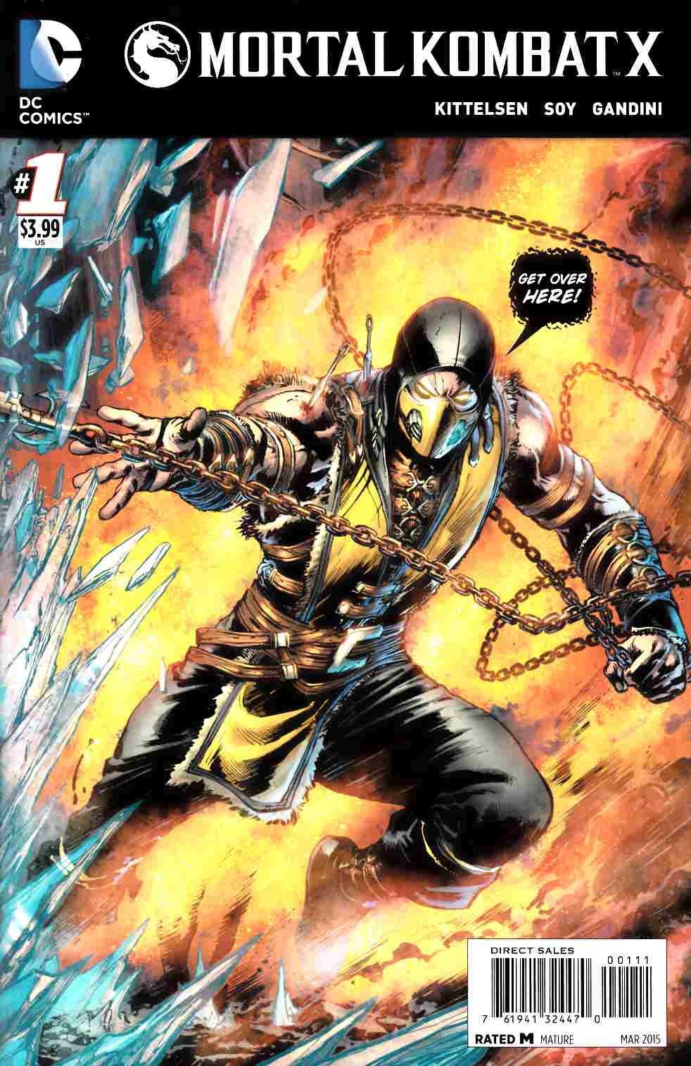 Mortal Kombat X #1 Cover A- Scorpion [DC Comic]_THUMBNAIL
