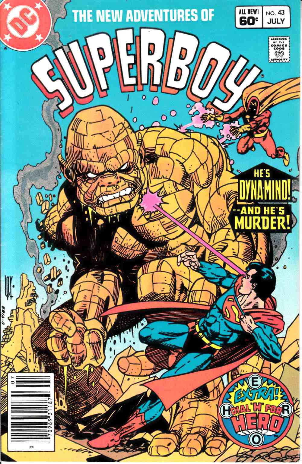 New Adventures of Superboy #43 Newsstand Edition Very Fine (8.0) [DC Comic] LARGE