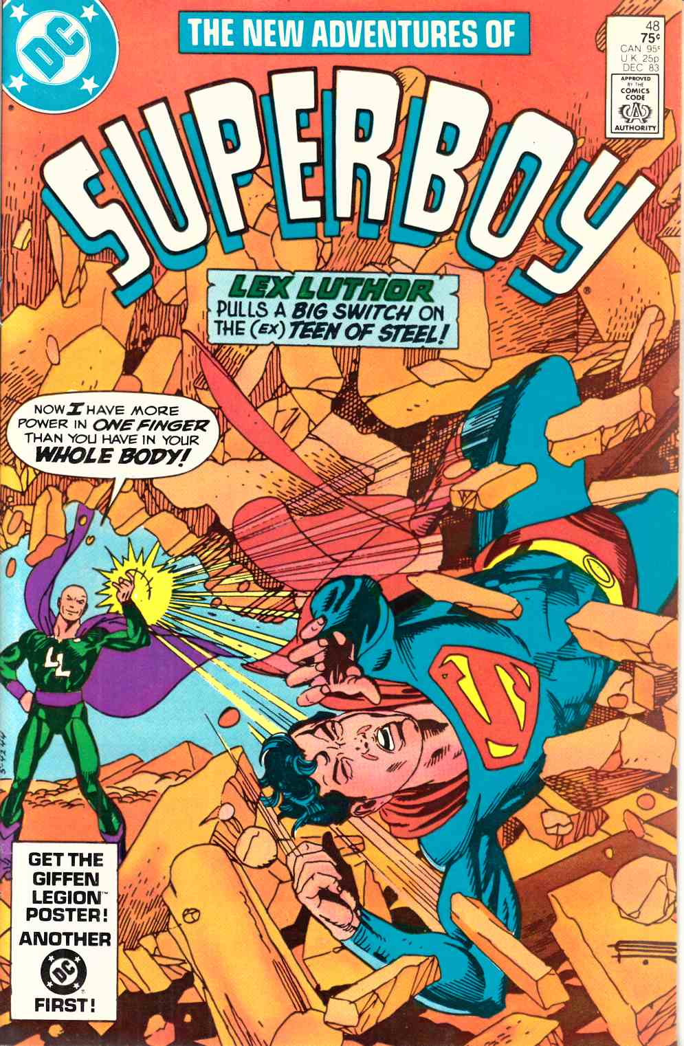 New Adventures of Superboy #48 Newsstand Edition Near Mint Minus (9.2) [DC Comic] LARGE
