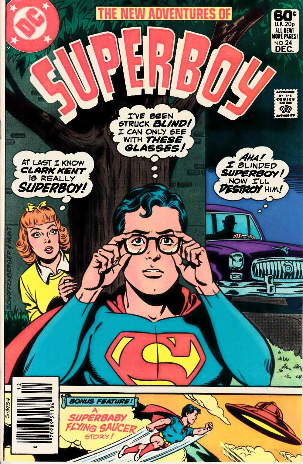 New Adventures of Superboy #24 Newsstand Very Fine Plus (8.5) [DC Comic] LARGE