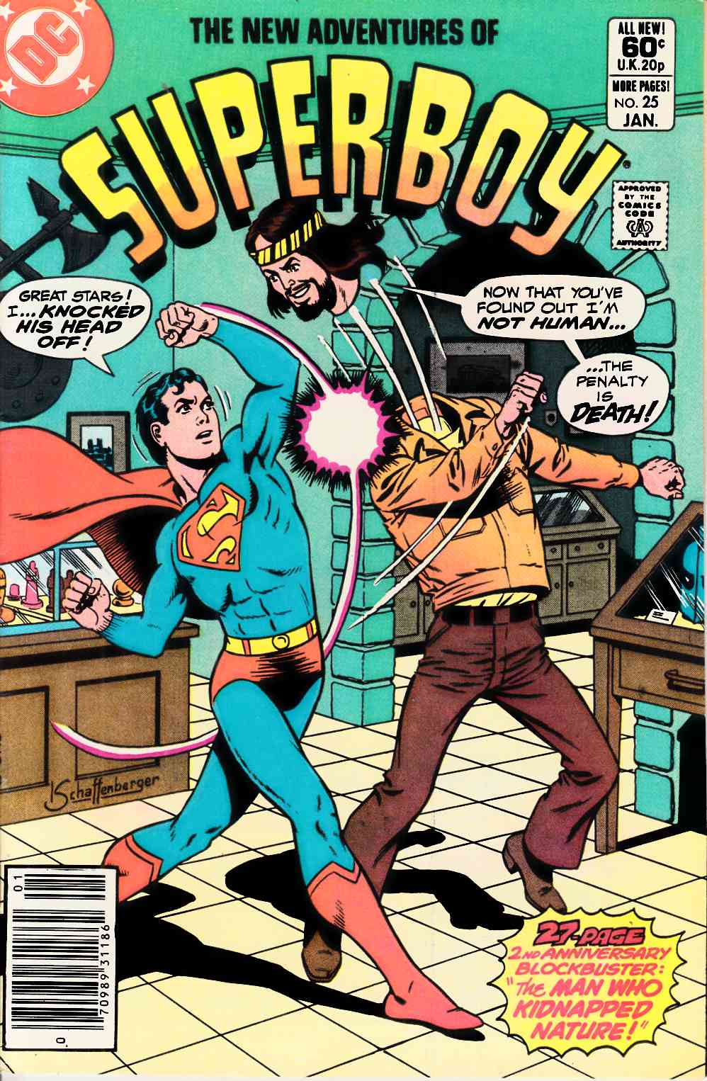 New Adventures of Superboy #25 Newsstand Very Fine Plus (8.5) [DC Comic] LARGE
