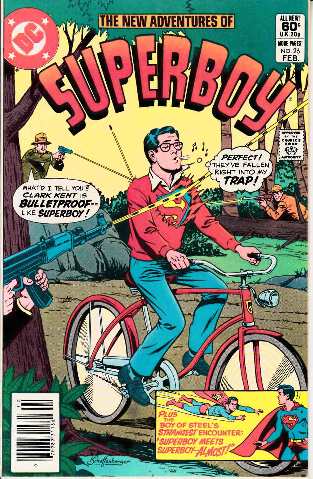 New Adventures of Superboy #26 Newsstand Very Fine (8.0) [DC Comic] LARGE