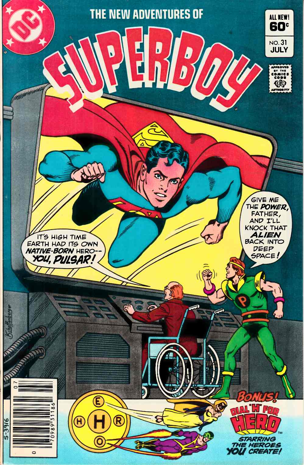 New Adventures of Superboy #31 Newsstand Edition Very Fine Plus (8.5) [DC Comic] LARGE