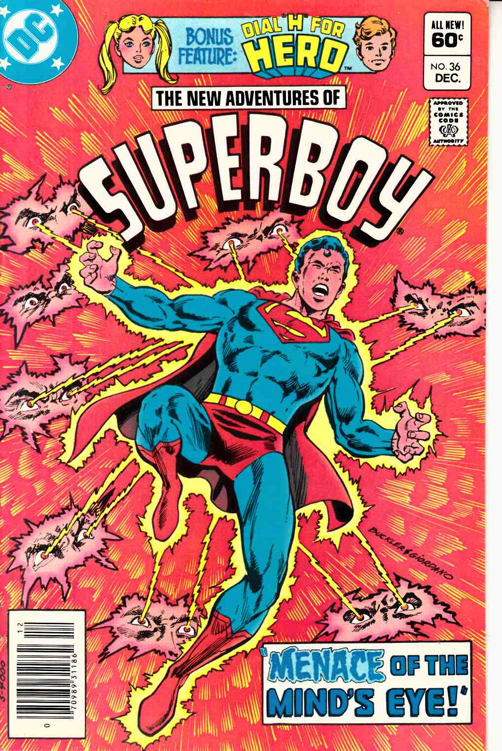 New Adventures of Superboy #36 Newsstand Edition Very Fine (8.00) [DC Comic] LARGE
