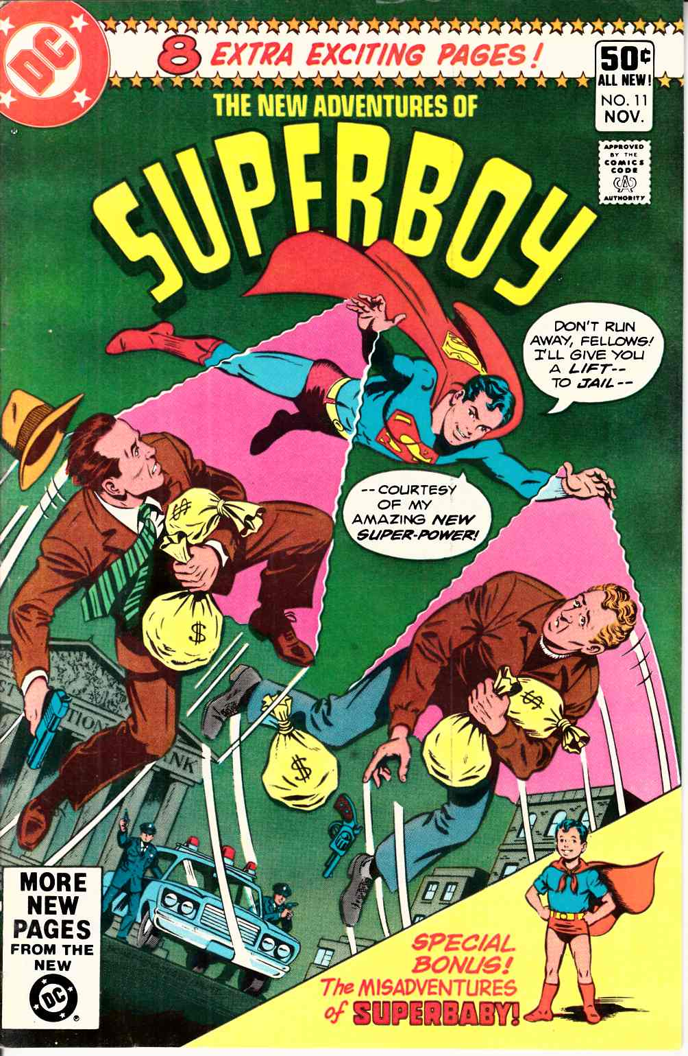 New Adventures of Superboy #11 Very Fine (8.0) [DC Comic] THUMBNAIL