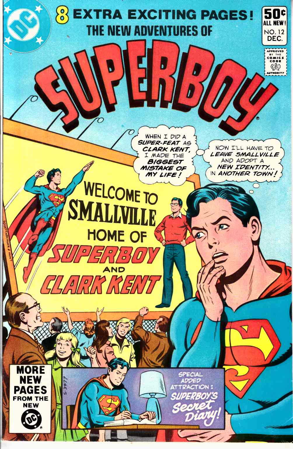 New Adventures of Superboy #12 Very Fine (8.0) [DC Comic] THUMBNAIL