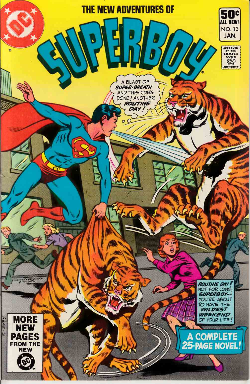 New Adventures of Superboy #13 Very Fine (8.0) [DC Comic] THUMBNAIL