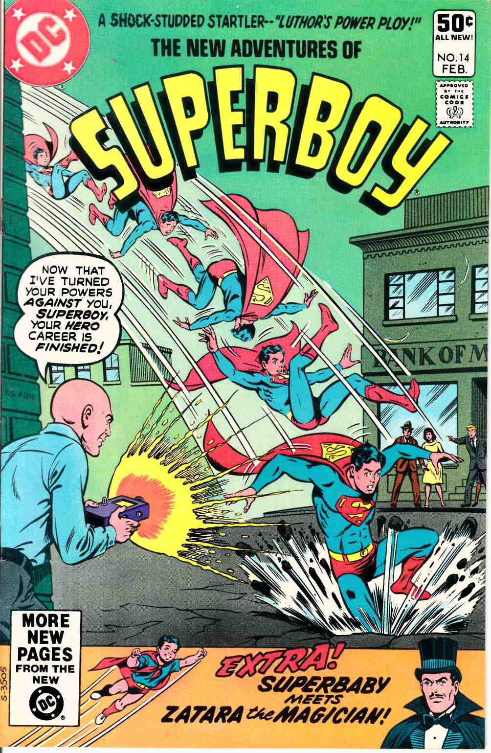 New Adventures of Superboy #14 Very Fine Plus (8.5) [DC Comic] THUMBNAIL