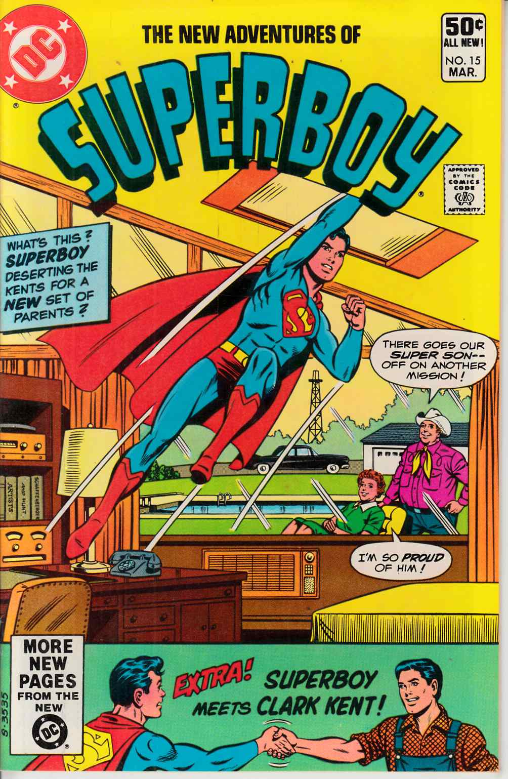 New Adventures of Superboy #15 Very Fine Plus (8.5) [DC Comic] THUMBNAIL