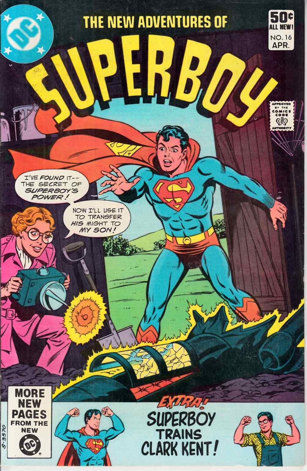 New Adventures of Superboy #16 Very Fine Plus (8.5) [DC Comic] THUMBNAIL