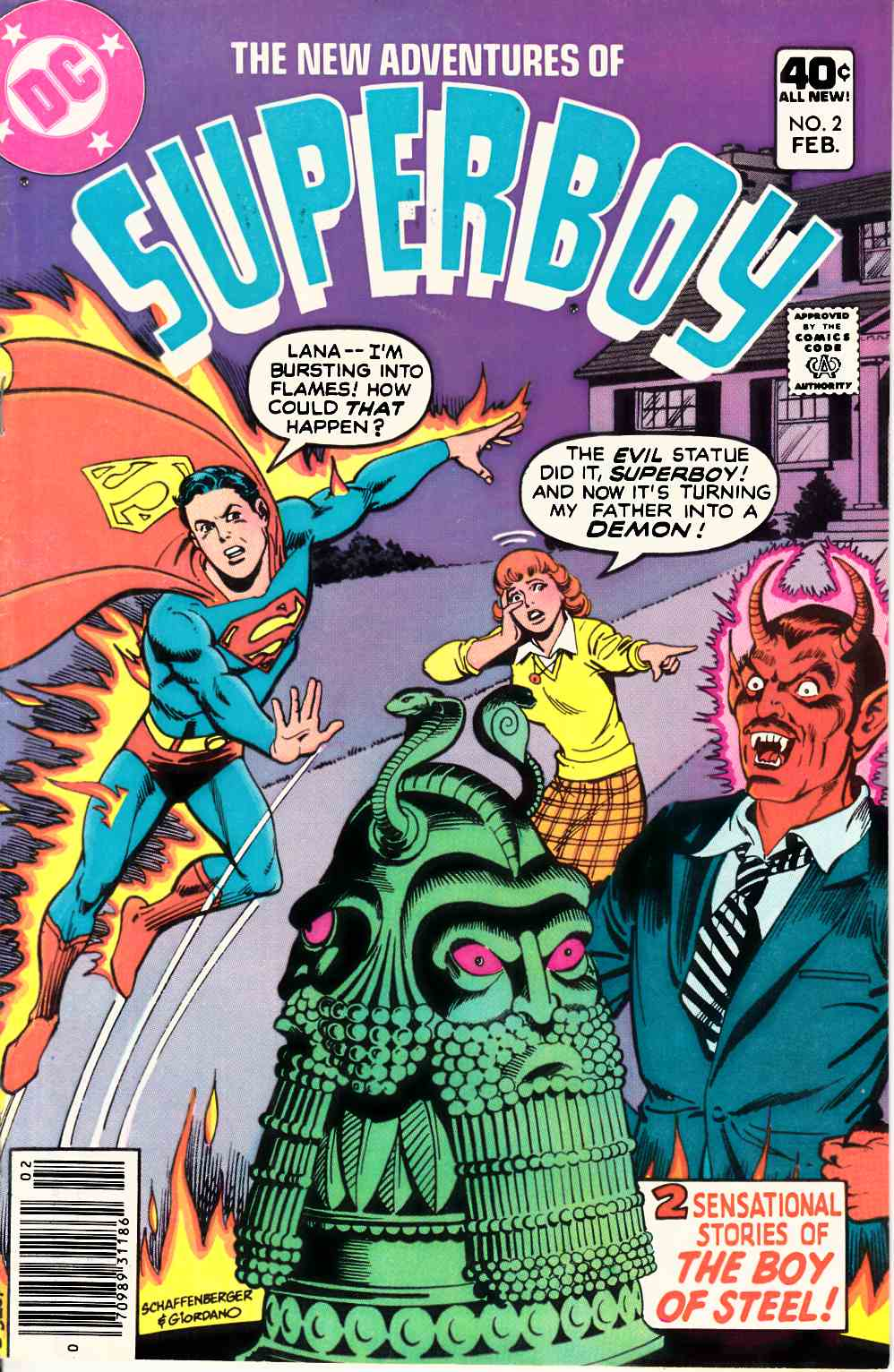 New Adventures of Superboy #2 Near Mint Minus (9.2) [DC Comic] THUMBNAIL