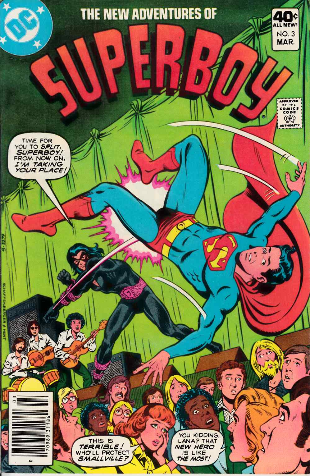 New Adventures of Superboy #3 Near Mint  (9.4) [DC Comic] THUMBNAIL
