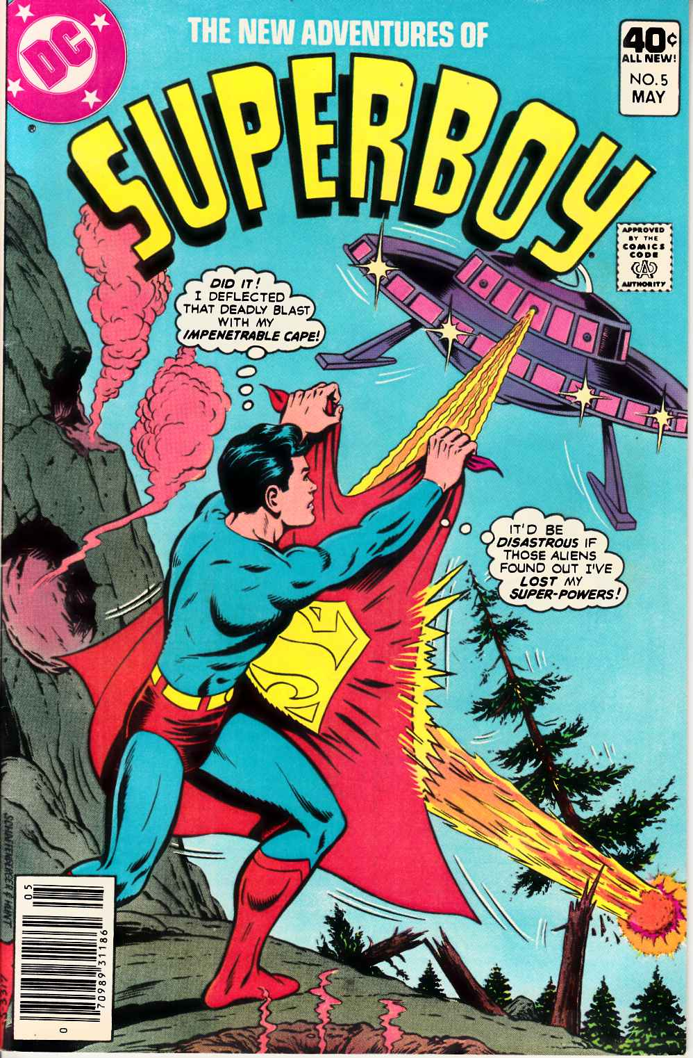 New Adventures of Superboy #5 Near Mint (9.4) [DC Comic] THUMBNAIL