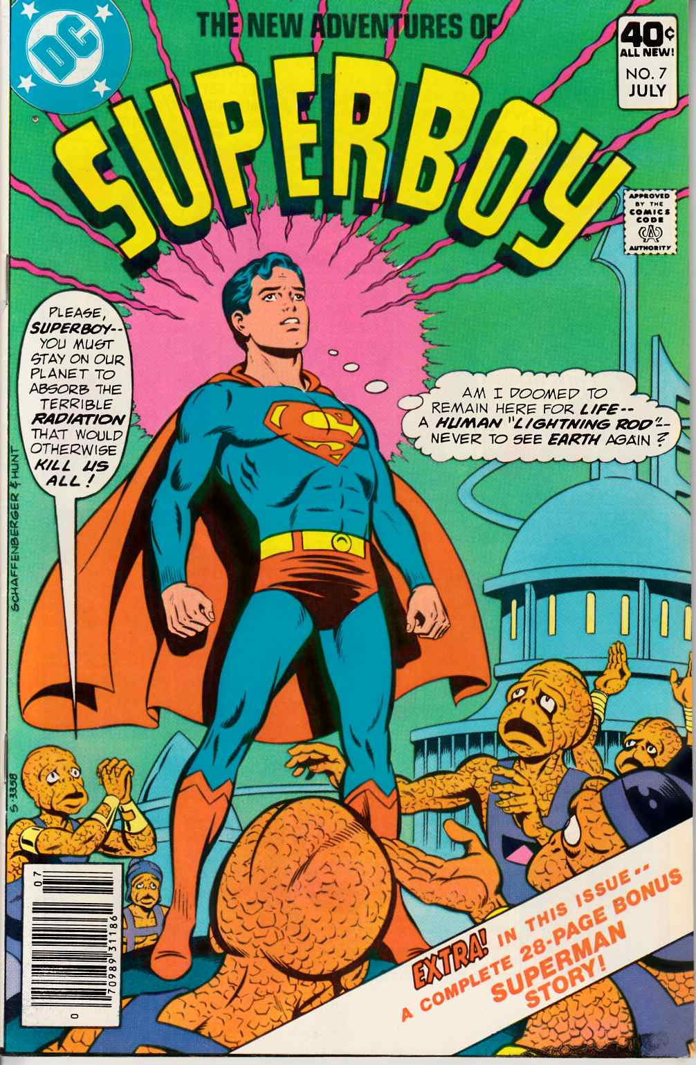 New Adventures of Superboy #7 Very Fine (8.0) [DC Comic] THUMBNAIL