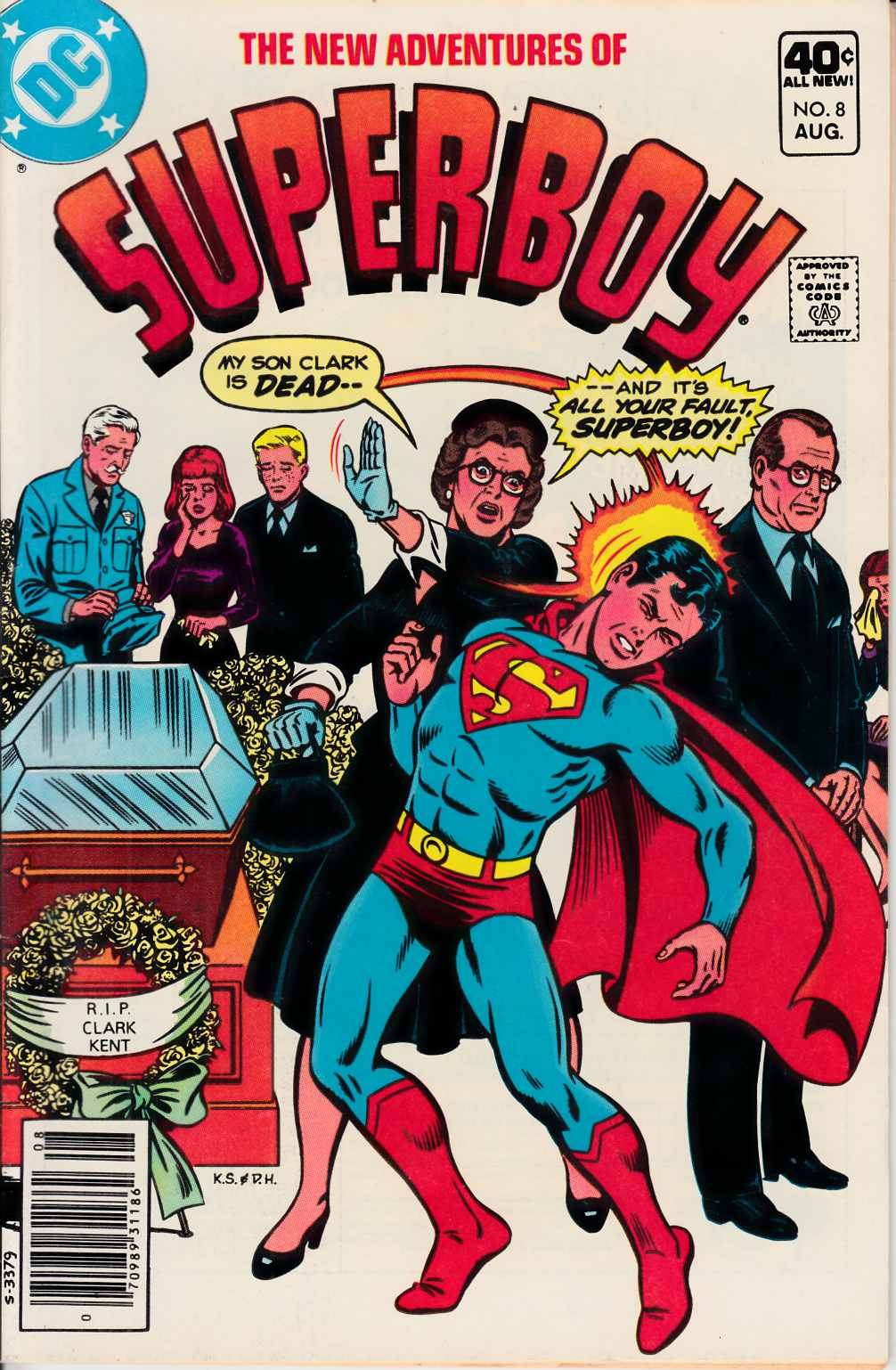 New Adventures of Superboy #8 Near Mint Minus (9.2) [DC Comic] THUMBNAIL