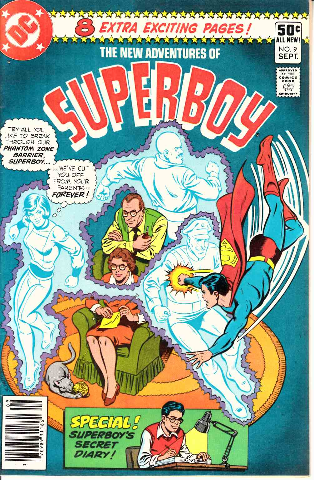 New Adventures of Superboy #9 Near Mint Minus (9.2) [DC Comic] THUMBNAIL