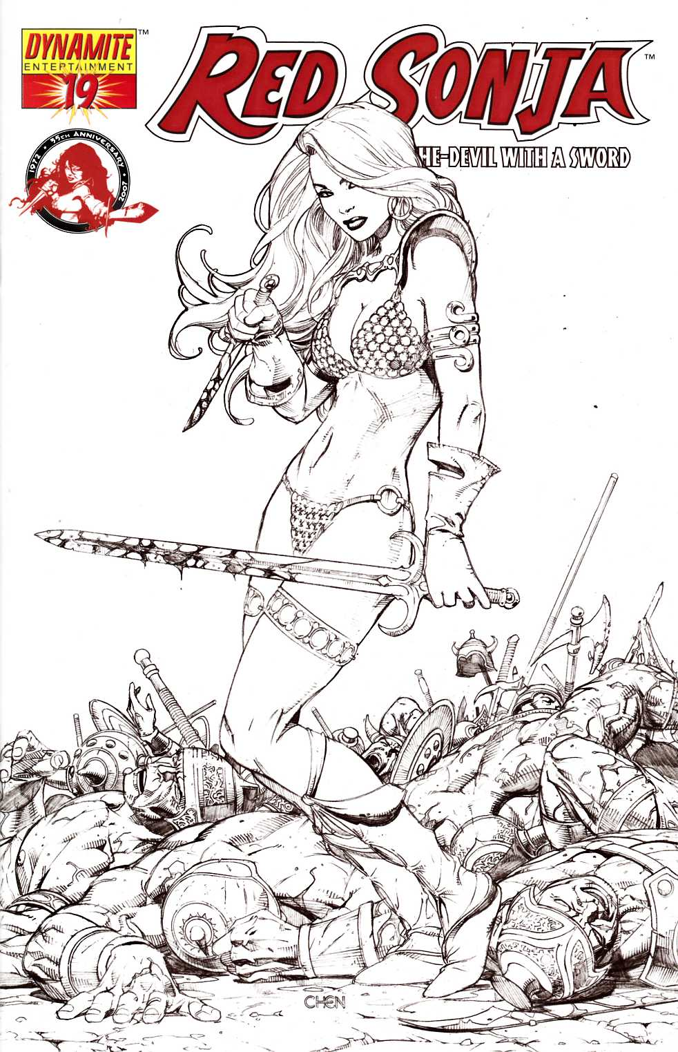 Red Sonja #19 Chen Sketch Variant Cover Very Fine (8.0) [Dynamite Comic] THUMBNAIL