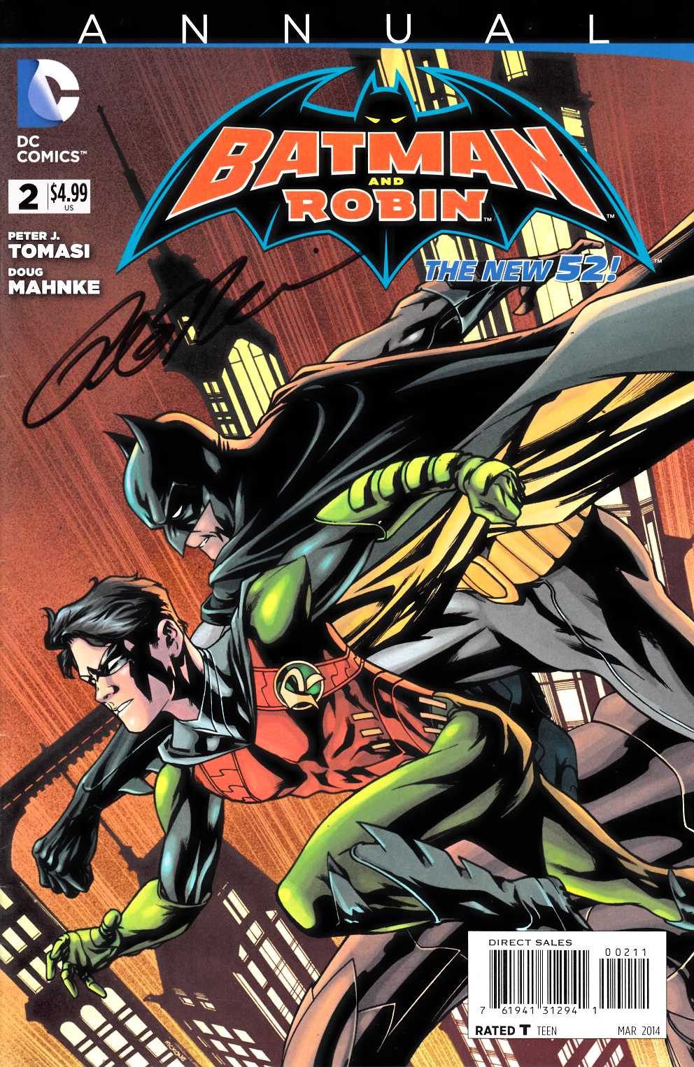 Batman and Robin Annual #2 Signed by Tomasi Very Fine (8.0) [DC Comic] LARGE